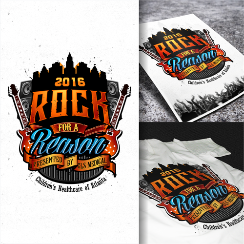 "Create a logo for a Children's Benefit Concert ""ROCK FOR A REASON BALL 2016"""