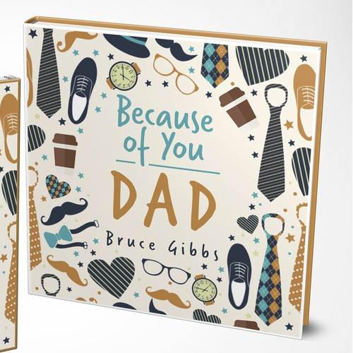 Book cover design for book about DAD
