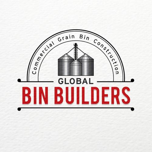 Bold logo concept for Grain Bin Contruction