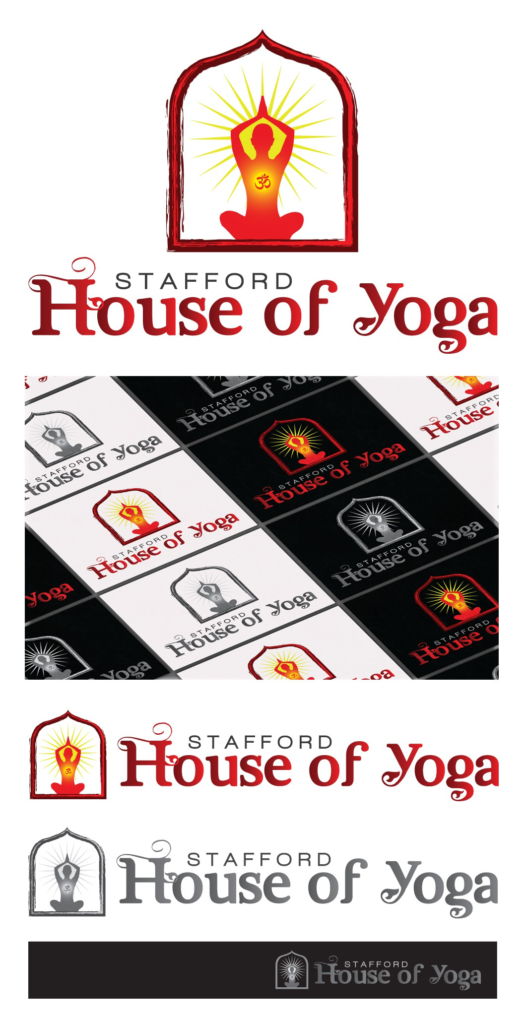 Create a logo for Stafford House of Yoga