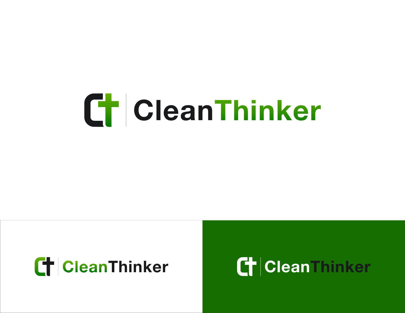 Create a unique design for CleanThinker