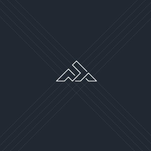 Geometric monogram logo