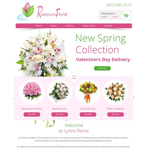 Webdesign for Riverport Florist