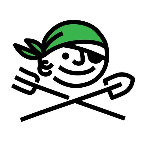 Vegetarian Pirate for Guerilla Gardening Movement.
