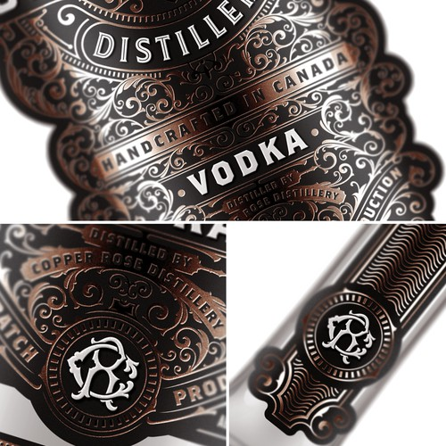 Copper Rose Distillery - Vodka label