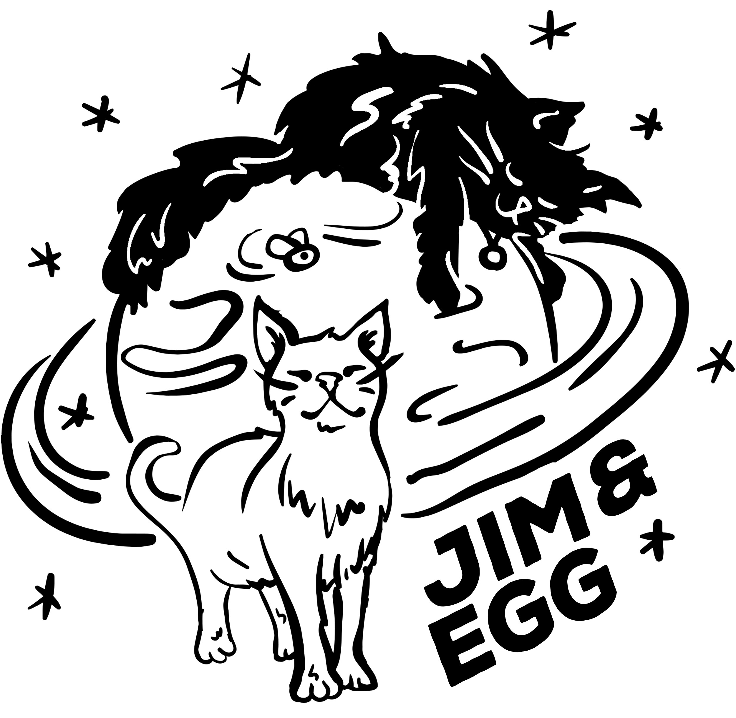 Jim & Egg need a colourful new shirt!     UNISEX T-SHIRT DESIGN