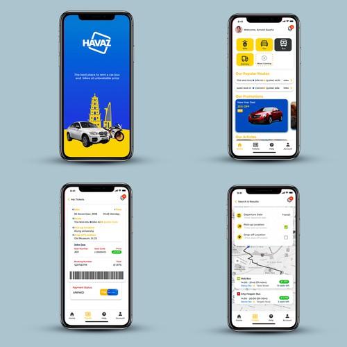 Havaz Car rental App