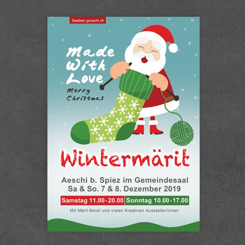 Flyer for a Christmas market.
