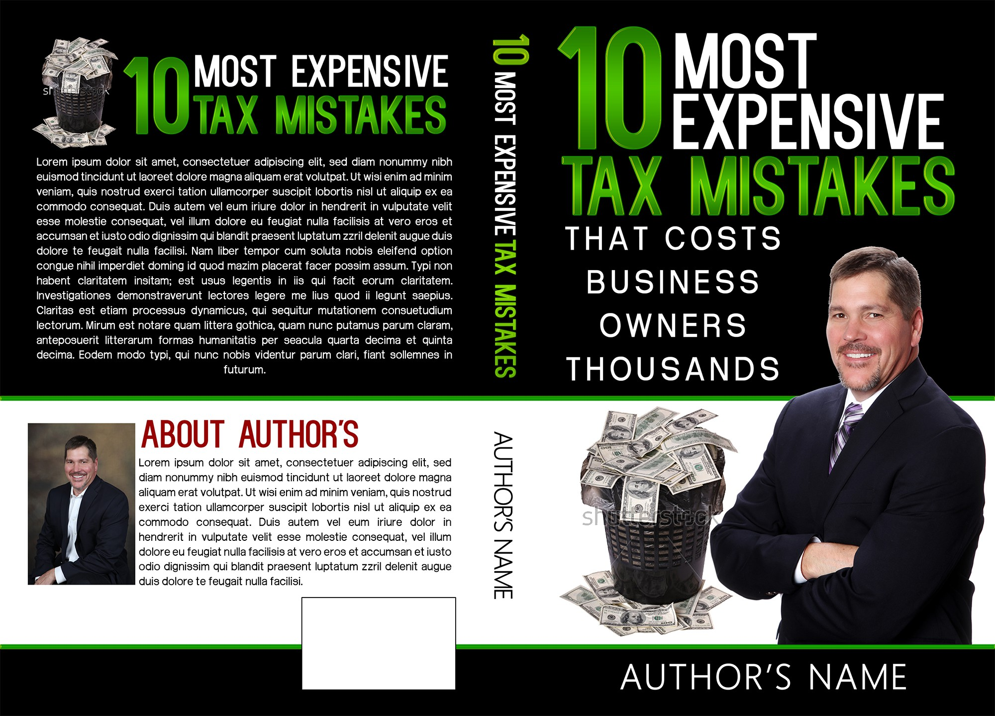 Create a a cover to be giving away letting biz owners realize they are overpaying their taxes