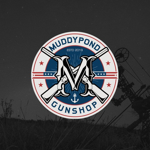 Logo design for Muddypond Gunshop