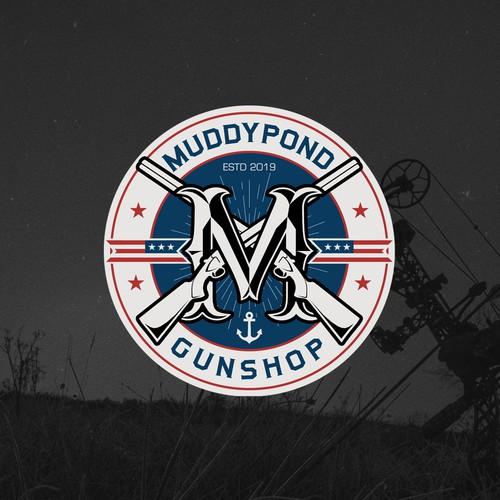 Logo design for Muddypond Gunshop