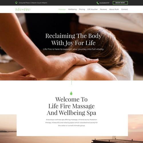 Website Design Concept for Simple Welness Spa