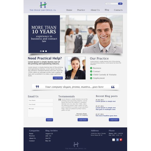 New website for small law office in Key West, FL
