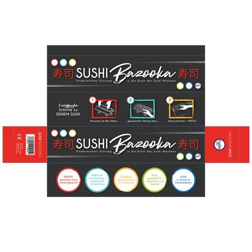 Packaging-Desing: Sushi Bazooka