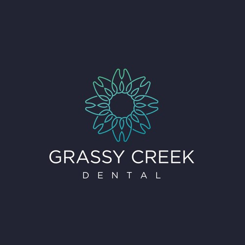 Modern Line-work Logo or dental Office