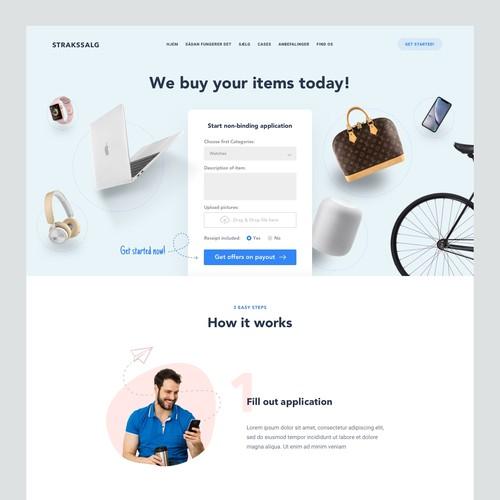 Webdesign for Strakssalg