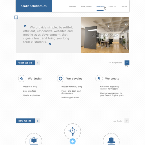 Help Nordic Solutions AS  with a new website design