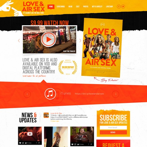 Webdesign for Love & Air