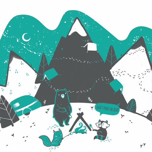 Design for Critter Campout - Animals camping out in the wilderness