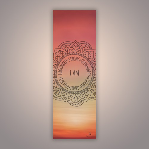 Sunset yoga mat design to YogAffirmations