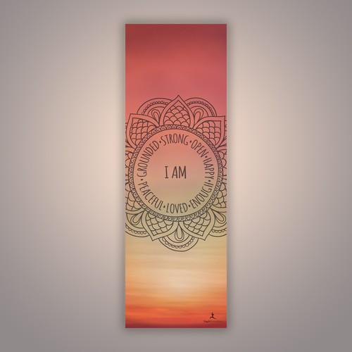 Sunset yoga mat design to YogAffirmations
