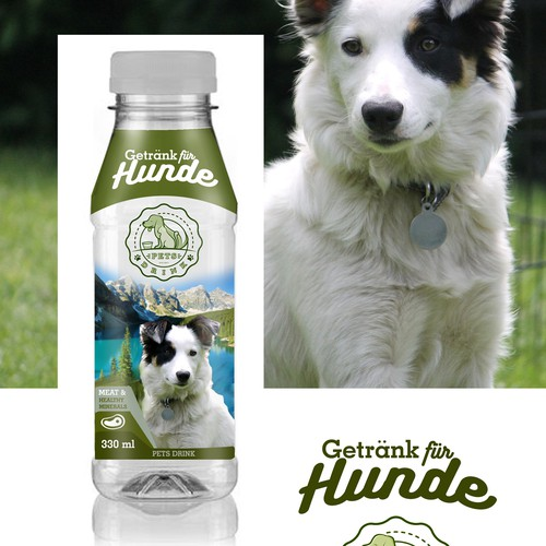 dogs drink label