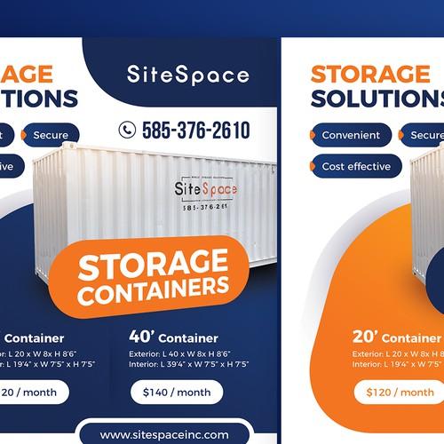 Storage solutions Flyer / Advert