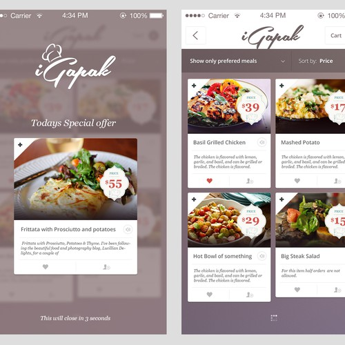 4-Star Restaurant: Exciting Mobile Web Application Design