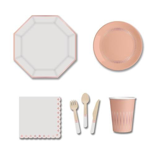 Party plate set design