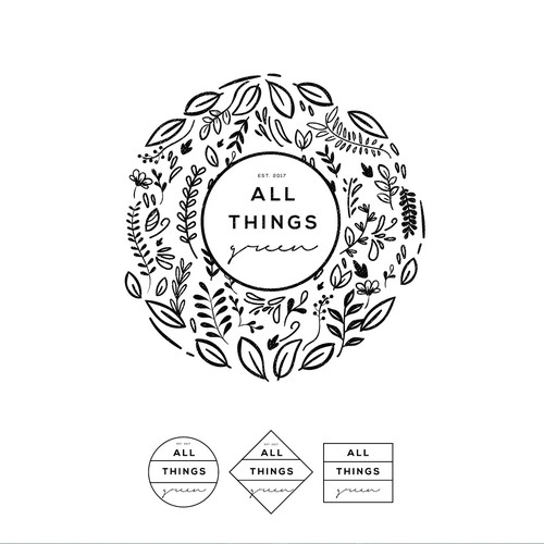 Logo concept for 'All things green'