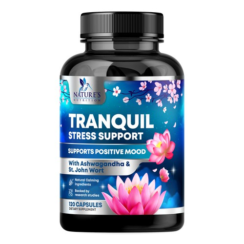 Tranquil Stress Supplement Design needed for Nature's Nutrition