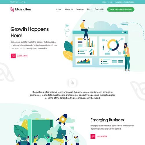 Blair Agency Design Concept