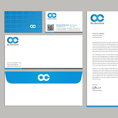 Business card and stationary package design