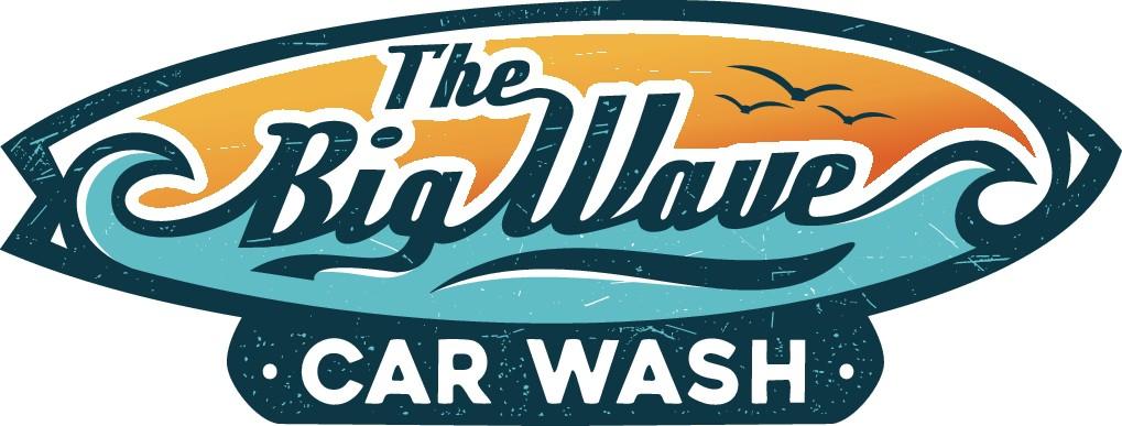 Vintage Surfing/Hawaiian themed Carwash logo!