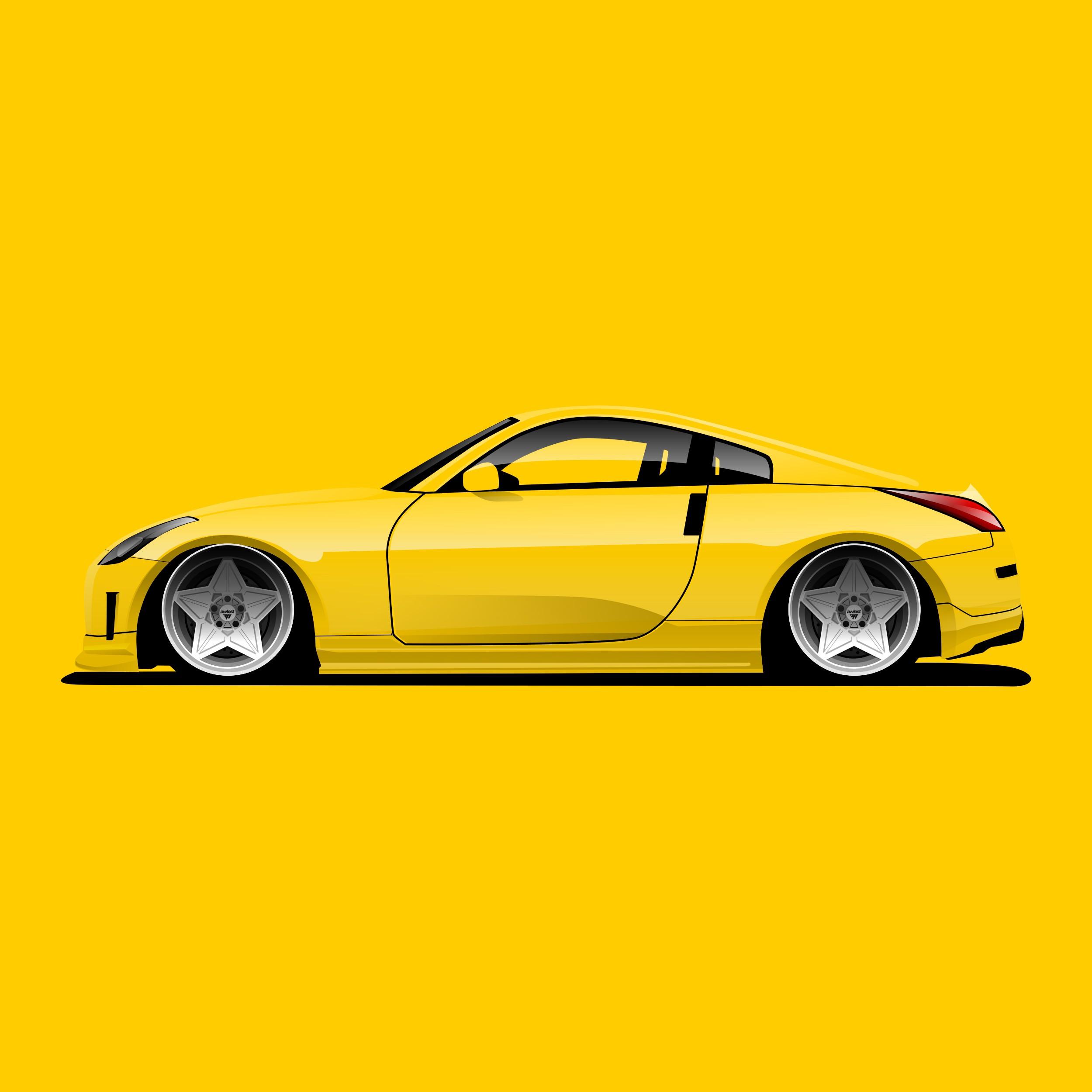 Side vieuw car artwork