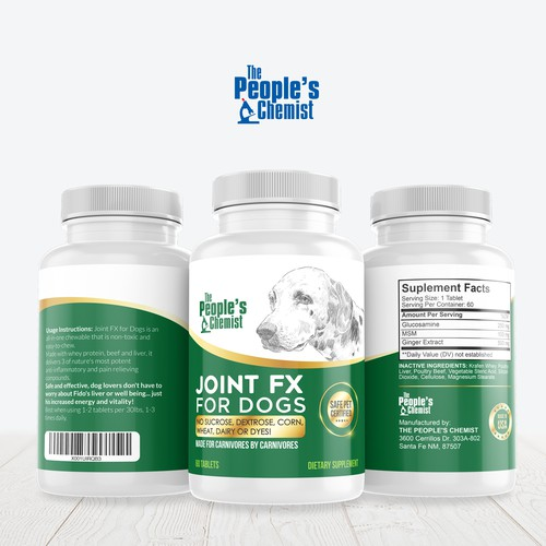 Pet Supplement Label