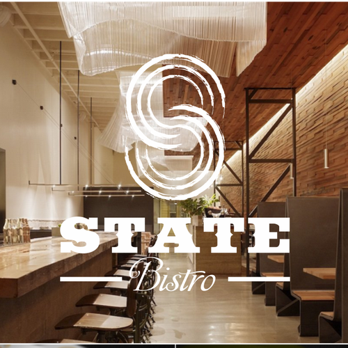 Logo and Business Card for 8 State Bistro.