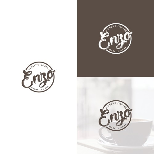 Emblem logo design for coffee supstitute