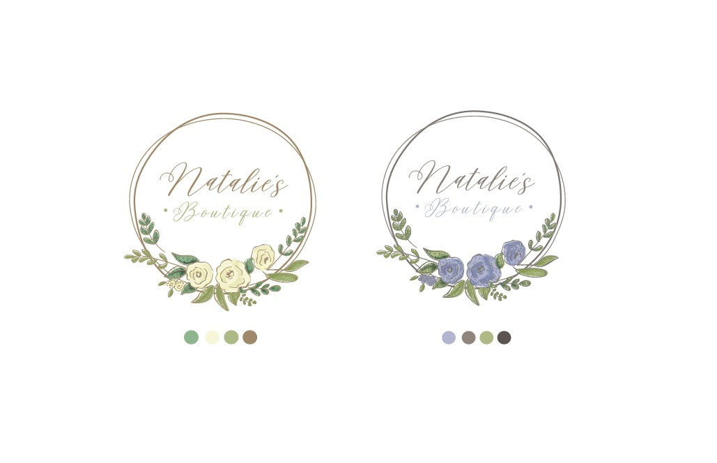 natalie's boutique logo clean feminine