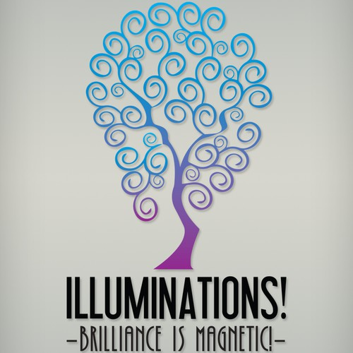 Logo design concept for Illuminations.