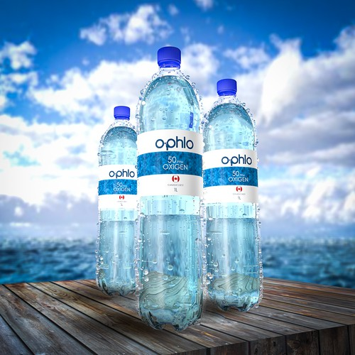Ophlo Water Render + Label design