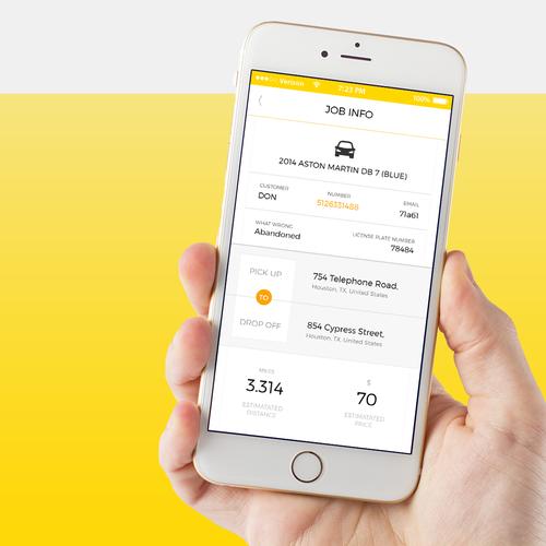 Innovative roadside assistance app