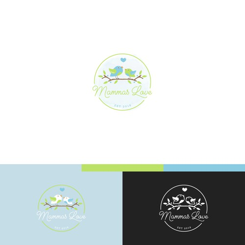 Logo for baby products company.