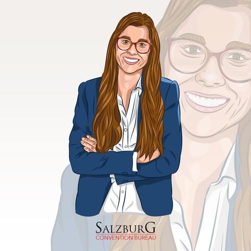 Employee Portrait Illustrations