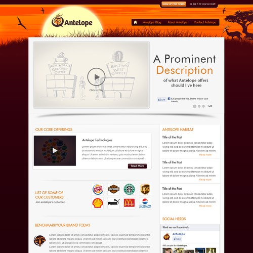 Beautiful Homepage Design for Antelope! (1 Page to Design, Wireframes Incuded)
