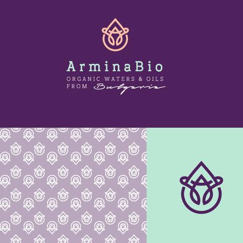 ArminaBio logo design