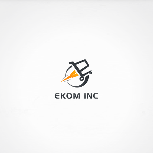 Playful logo for EKOM INC