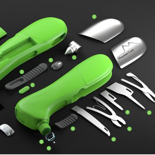 Digital Tire Gauge 3D Renderings