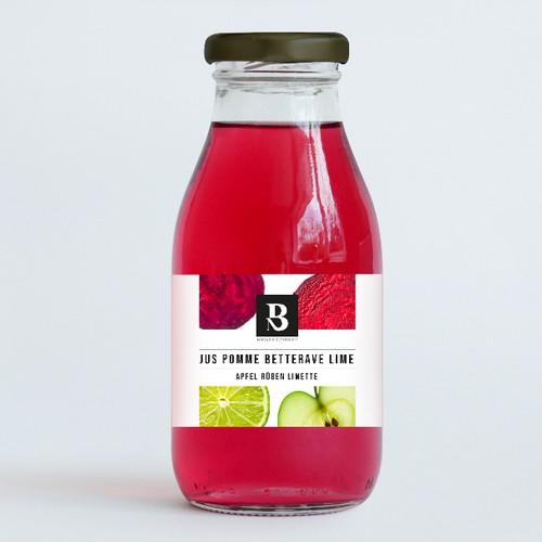 étiquette pour un jus naturel