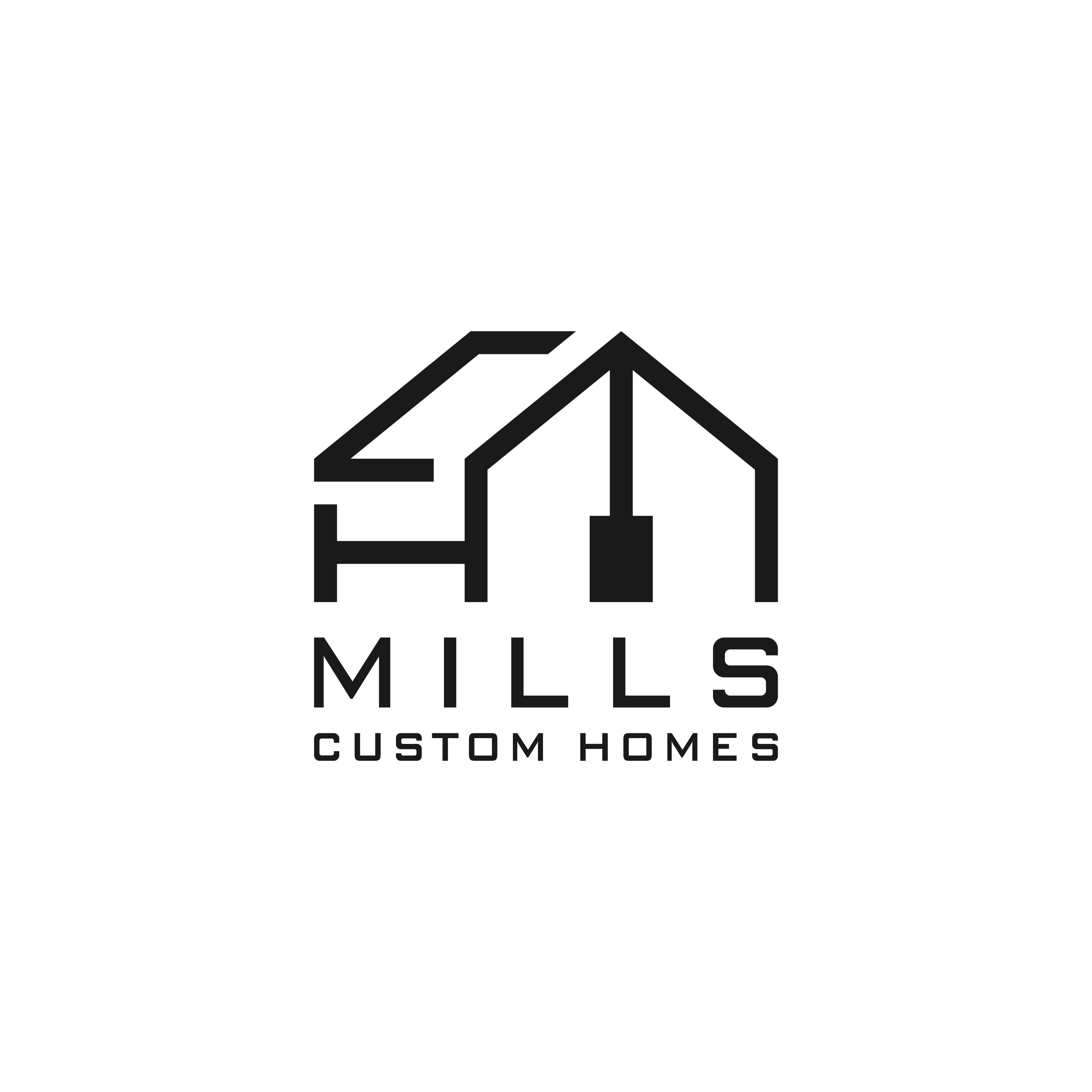 Create a Modern Farmhouse Inspired Logo for Mills Custom Homes